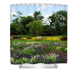 Shower Curtain featuring the photograph Lincoln Park Gardens by Lynn Bauer