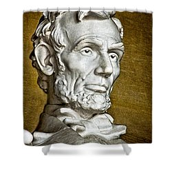 Lincoln Profle 2 Shower Curtain by Christopher Holmes