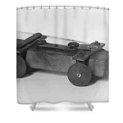Lincoln Toy Wagon Shower Curtain by Granger