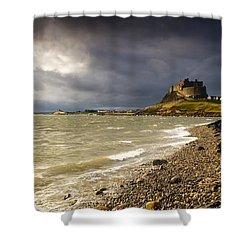 Lindisfarne Castle, Holy Island Shower Curtain by John Short