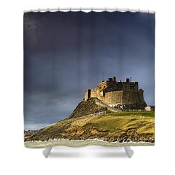 Lindisfarne Castle On A Volcanic Mound Shower Curtain by John Short