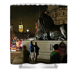 Shower Curtain featuring the photograph Lion An Ben by Pedro Cardona