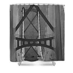 Shower Curtain featuring the photograph Lions Gate Bridge by John Schneider