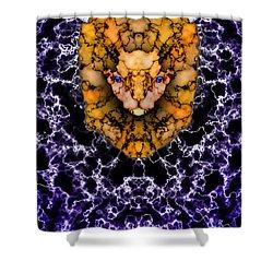 Lion's Roar Shower Curtain by Christopher Gaston