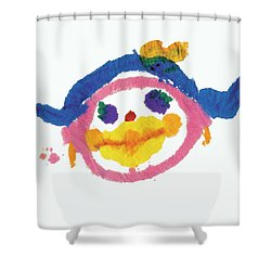 Lipstick Face Shower Curtain