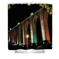 Lisbon Historic Aqueduct By Night Shower Curtain