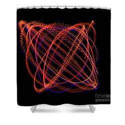 Lissajous Figure Shower Curtain by Ted Kinsman
