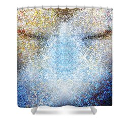 Listening Shower Curtain by Christopher Gaston