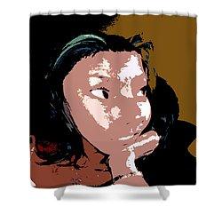 Listening Shower Curtain by David Lee Thompson