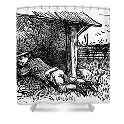 Little Boy Blue Shower Curtain by Granger