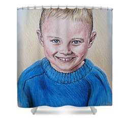 Little Boy Commissions Shower Curtain by Andrew Read
