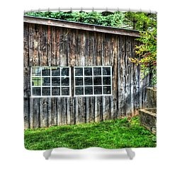 Little Brown Shed Shower Curtain by Debbi Granruth