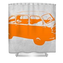 Little Bus Shower Curtain by Naxart Studio