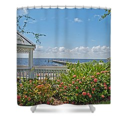 Little Harbor Tampa Bay Shower Curtain by John Black