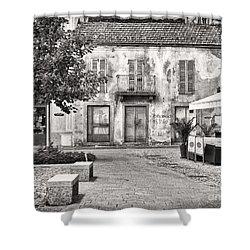 Little Italian Corner Shower Curtain by Silvia Ganora