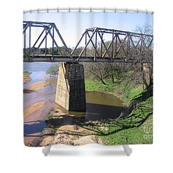 Little Llano Creek Shower Curtain by Mark Robbins