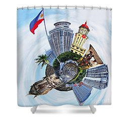 Little Planet - Manila Shower Curtain by Yhun Suarez