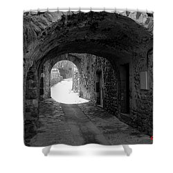 Little Street La Roche Alba Ardeche France Shower Curtain by Colette V Hera  Guggenheim