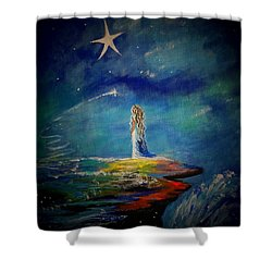 Little Wishes One Shower Curtain by Leslie Allen