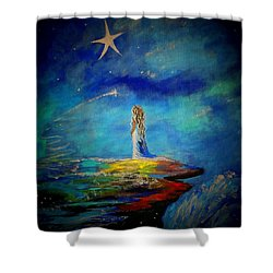 Little Wishes Too Shower Curtain by Leslie Allen