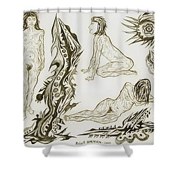 Live Nude 17 Female Shower Curtain