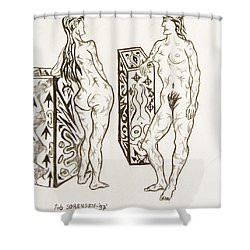 Live Nude 19 Female Shower Curtain
