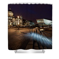 Liverpool - The Old And The New  Shower Curtain by Beverly Cash