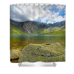 Llyn Idwal Shower Curtain by Adrian Evans