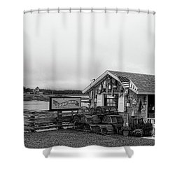 Lobster House Bw Shower Curtain