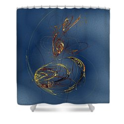 Shower Curtain featuring the digital art Local Variable by Jeff Iverson