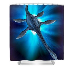 Loch Ness Monster Shower Curtain by Victor Habbick Visions and Photo Researchers