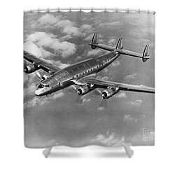 Lockheed Constellation Shower Curtain by Photo Researchers