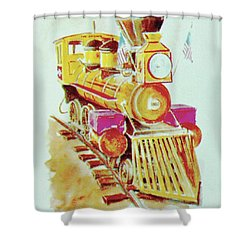 Locomotive Shower Curtain by Frank Hunter