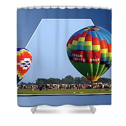 Logan County Bank Balloon 05 Shower Curtain by Thomas Woolworth
