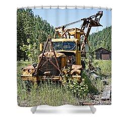 Logging Truck - Burke Idaho Ghost Town Shower Curtain by Daniel Hagerman