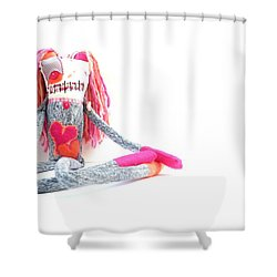 Lollipop The Zombie Raver Shower Curtain by Oddball Art Co by Lizzy Love