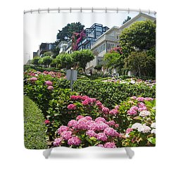 Shower Curtain featuring the photograph Lombard Street by Dany Lison