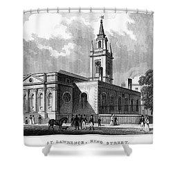 London: Church, C1830 Shower Curtain by Granger