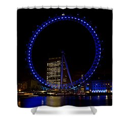 London Eye And River Thames View Shower Curtain