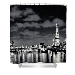 London Lights At Night Shower Curtain