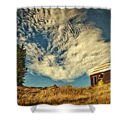 Lone Cabin Shower Curtain by Jeff Kolker