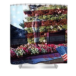 Lone Soldier Memorial Shower Curtain by Kay Novy