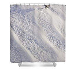 Lone Tree On Mount Hood In Winter Mount Shower Curtain by Craig Tuttle