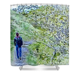 Lonely Path Shower Curtain by Jeff Kolker