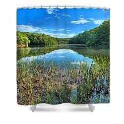 Long Branch Marsh Shower Curtain by Adam Jewell