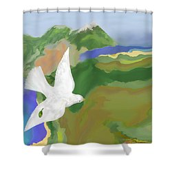 Long Journey Home Shower Curtain by Mathilde Vhargon
