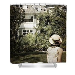 Longing Shower Curtain by Margie Hurwich