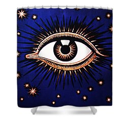Look Em In The Eye Shower Curtain by Bill Cannon