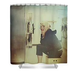 Looking For Answers In All The Wrong Places Shower Curtain by Laurie Search