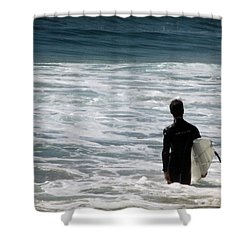 Looking For The Big One Shower Curtain by Laurie Search